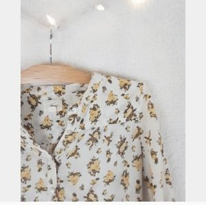 Levi's yellow floral long sleeve